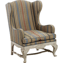 Scandinavian wing-back chair, circa 100 years old.