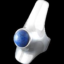 Georg Jensen Henning Koppel Scandinavian Modern Lapis Lazuli Sterling Silver Ring #154