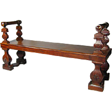 Regency Mahogany Hall Bench (c. 1820 England)