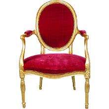 George III Adam Period Giltwood Armchair (c. 1780 England)