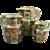 Chamberlain Worcester matched set of three Japan pattern jugs