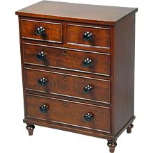 George III Mahogany Miniature Chest of Drawers (c. 1820 England)