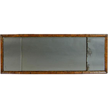 Queen Anne Walnut Overmantel Mirror with Original Plates (c. 1710 England)
