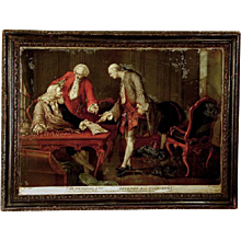 George III Glass Transfer Print of The Prodigal Son, by R. Parcel, in original frame (c. 1780 England)