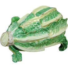 Sceaux Faience Cos Lettuce Tureen and Cover (c. 1770 France)