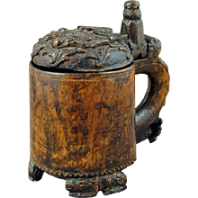 Norwegian Birch Peg Tankard (c. 1770 Norway)