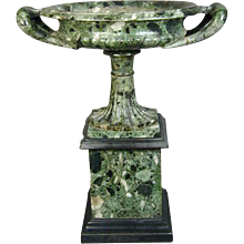 Grand Tour Verde Antico Marble Tazza (c. 1820 Italy)