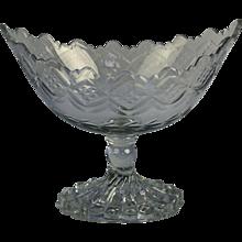 An Irish Georgian 18th Century cut glass boat shaped bowl.