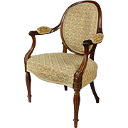 George III mahogany armchair attributed to Mayhew & Ince. England, c.1780