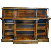 William IV mahogany breakfront side cabinet. England, c.1830
