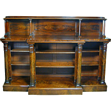William IV mahogany breakfront side cabinet. England, c.1830