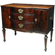 An unusual George III period mahogany commode. England, c.1770
