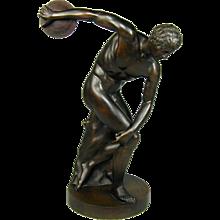 Large 19th Century bronze of DISCOBOLUS