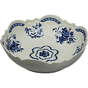 Worcester Blue & White Bowl (c. 1775 English)