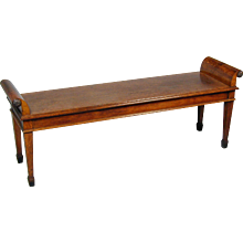 Late 19th Century Oak Bench, in the Adam style. By Howard & Sons. Circa 1875