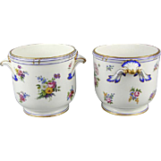 Pair of Sevres Ice Pails (c. 1770 French)