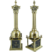 Pair of Regency Brass Incense Burners. (c. 1820 England)