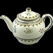 Wedgwood Painted Creamware Punch Pot (c. 1780 England)