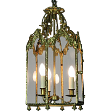 George III Gilt Metal Hall Lantern (c. 1810 England)