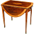 Sheraton mahogany oval pembroke table with satinwood crossbanding. England, c.1790