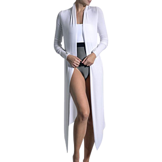 Long Silk Blend Michi Cardigan