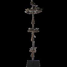 Stylized Iron Bird Sculpture