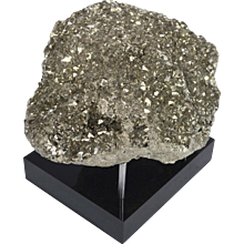 Pyrite Mineral on Black Acrylic Base