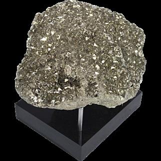 Pyrite Mineral on Black Acrylic Base