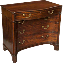A Fine Georgian Kneehole Commode Dressing Table
