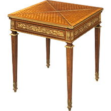 French 19th Century Card Table