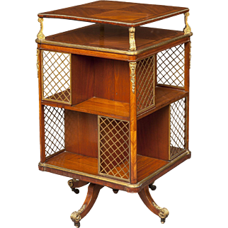 French 19th Century Revolving Library Bookcase