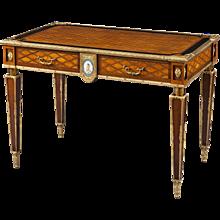 English Writing Table with Inlay and Ormolu Mounts