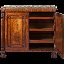 English Georgian Period Mahogany Side Cabinet