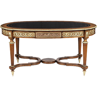 French Library Centre Table in the Louis XVI Manner