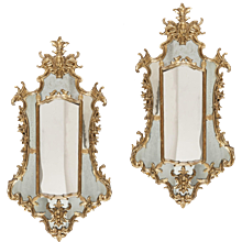 Pair of 18th Century Italian Giltwood Mirrors