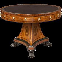 English Regency Period Drum Table