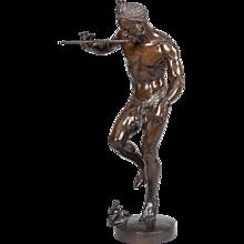 'The Snake Charmer' Bronze Statue