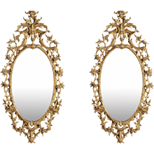 Pair of Giltwood Mirrors in the George III Style