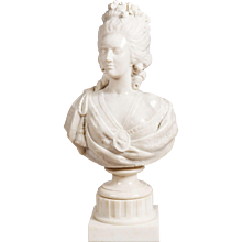 19th Century Marble Bust of 'Marie Antoinette'