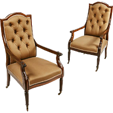 A Pair of Regency Library Chairs