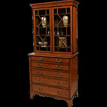 A Georgian Secretaire Bookcase