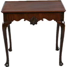 An Irish 8th century Mahogany Silver Table