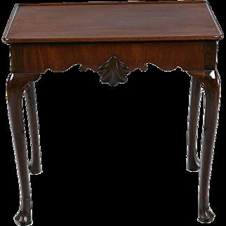 An Irish 8th century Mahogany Silver Table