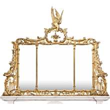 An 18th Century Over Mantle Mirror