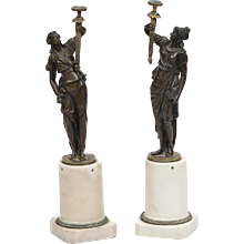 A Pair of Regency Bronze Figures
