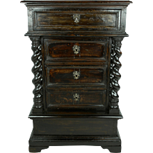 Italian Fruitwood and Faux Bois Commode