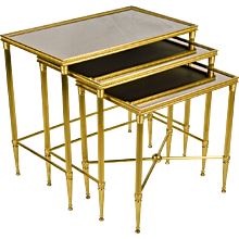Set 3 Italian Brass Nesting - Stacking Tables