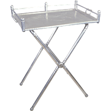 Vintage Everlast Wrought Aluminum Tray Table Stand