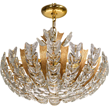 Elegant Palwa Mid Century Basket Form German Chandelier