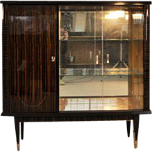 Art Deco Macassar Vitrine